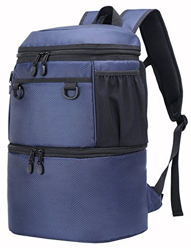 MIER Insulated Backpack Cooler Men Women Lunch Backpack to Hiking ... 27a206688