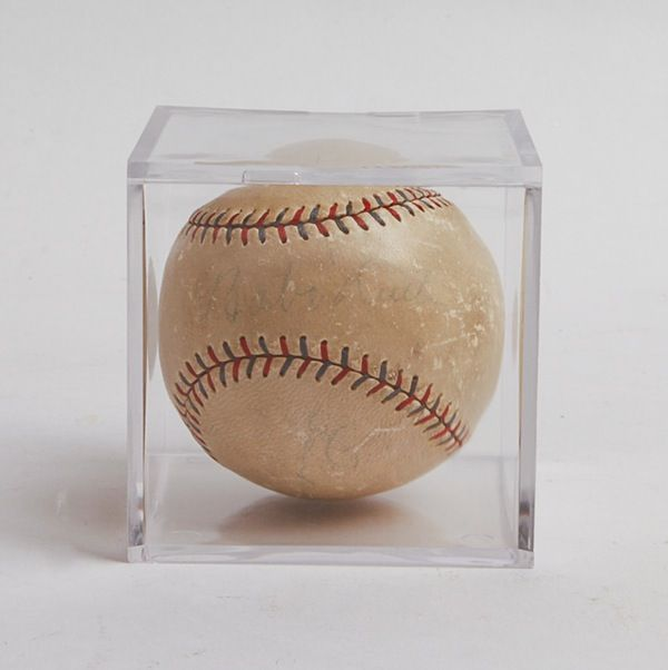 Babe Ruth and Lou Gehrig Autographed Baseball : EBTH