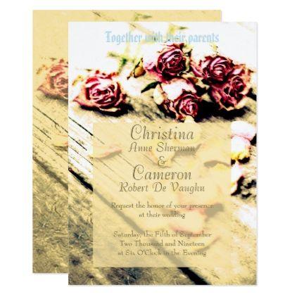Romantic Vintage Wedding Invitation - romantic wedding gifts wedding anniversary marriage party