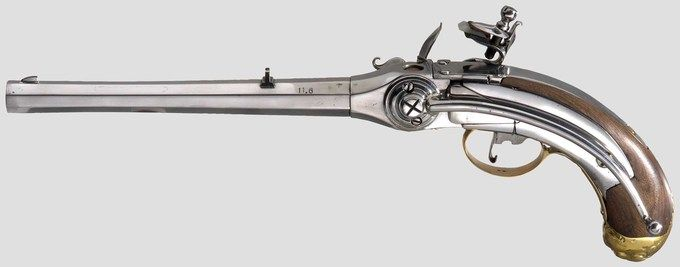 This is Lorenzoni Flintlock Repeating Pistol which unlike other flintlock…