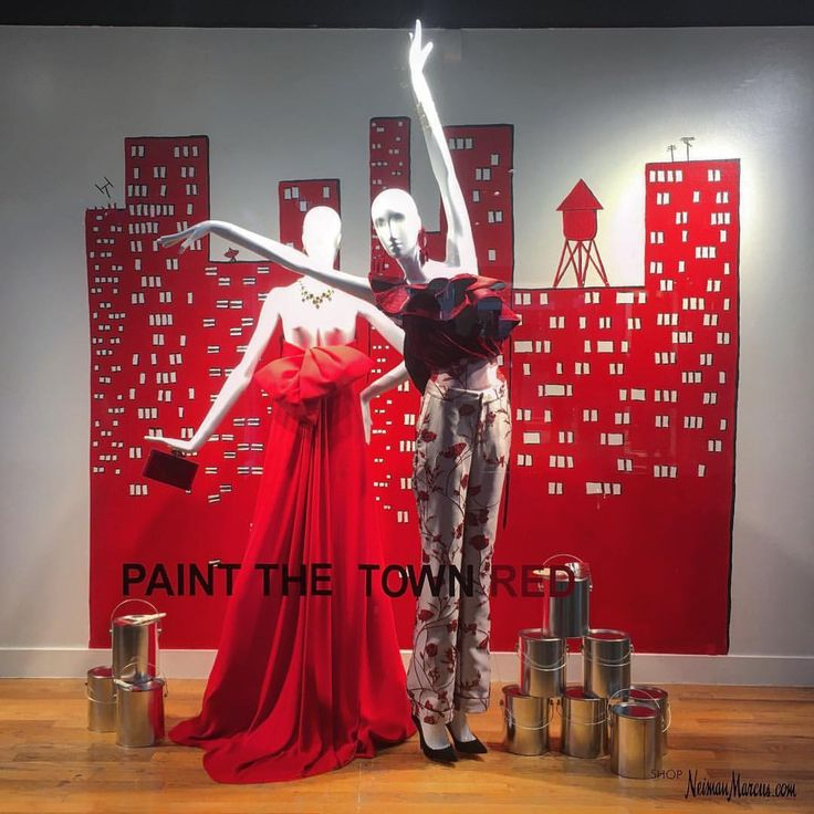 """NEIMAN MARCUS, Houston, Texas, """"Paint the Town Red"""", pinned by Ton van der Veer"""