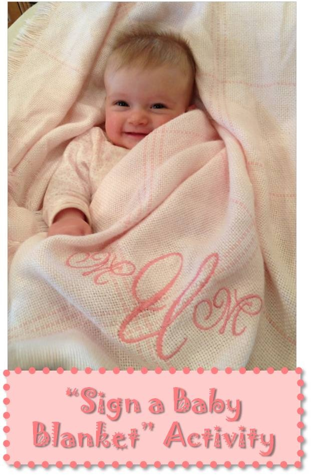 Quot Blessing Blanket Quot Activity Like Getting Autographs On A