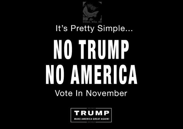 IT SIMPLY COMES DOWN TO THIS:  DO YOU WANT TO REMAIN AMERICA - OR  -  DO YOU WANT TO BE A MEMBER OF THE NEW WORLD ORDER GLOBAL SOCIETY?  IF YOUR ANSWER IS: STAY AMERICA - VOTE TRUMP!