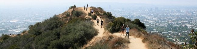 hike runyon canyon in LA.