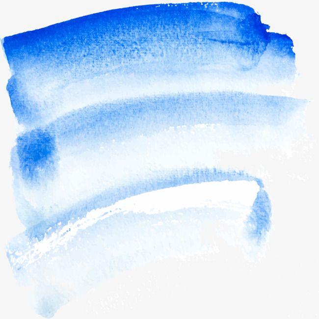 Blue Watercolor Brush Graffiti Brush Effect Watercolor Flower