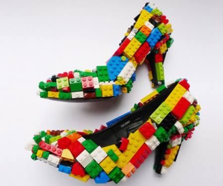 Who'd have thought? Lego stilettos! British artist & contemporary product design visionary, Finn Stone, created these play shoes, although be careful if you're going to wear them, as you'll surely have children (and probably a plethora of adults!) at your feet.