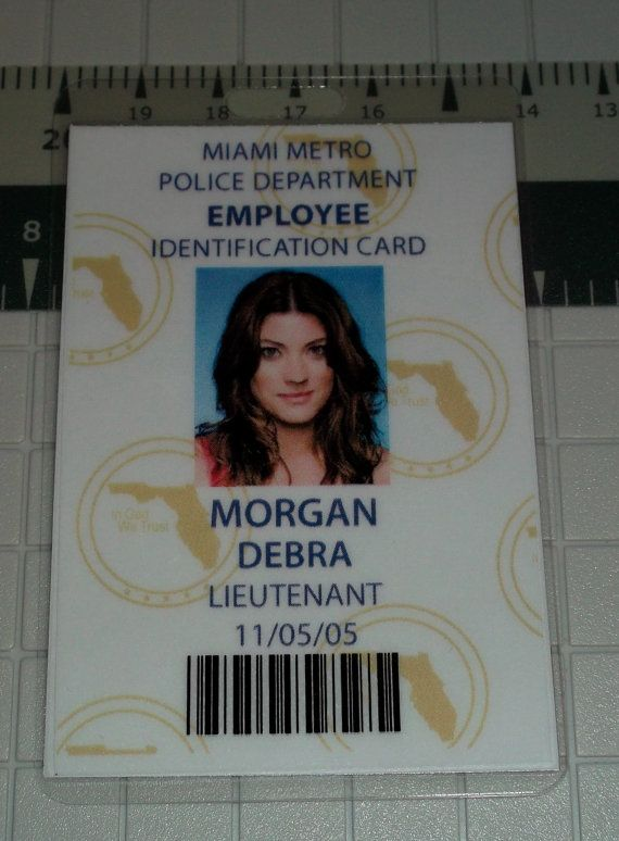 Debra Morgan Employee ID Badge Lieutenant Miami by UncleJacks, $5.99