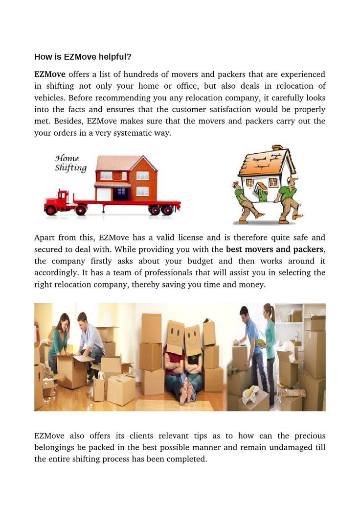 Affordable Movers and Packers : Ezmove by EzMove
