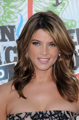 Light brown hair color with highlight