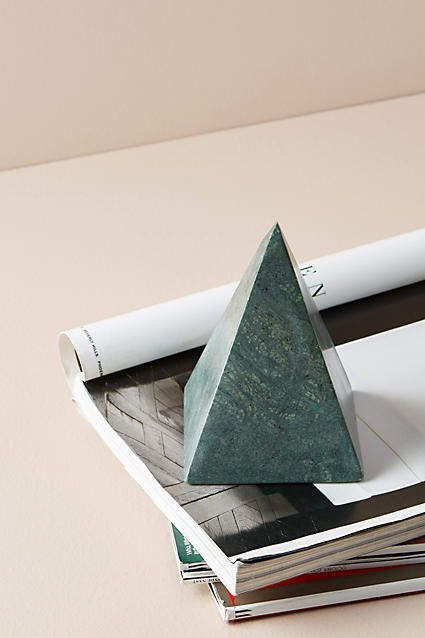 Anthropologie Green Marble Decorative Object