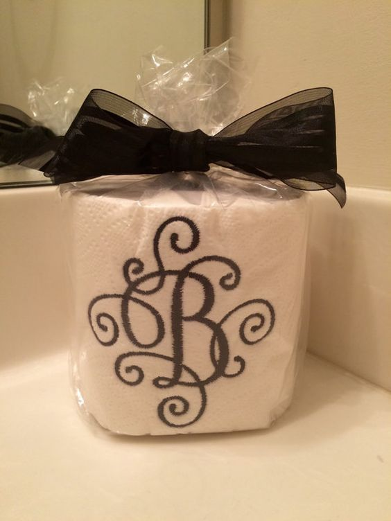 Monogrammed Toilet Paper