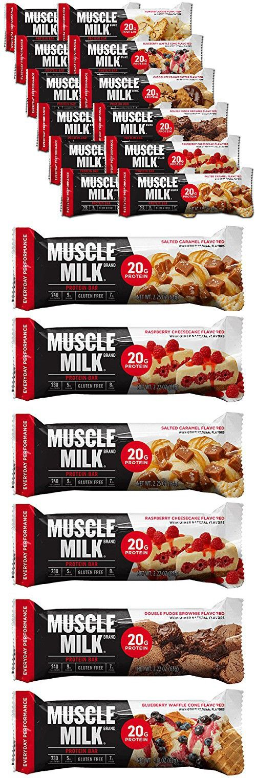 Cytosport Muscle Milk Red Bar Variety Pack 2-Each Flavor 12-2.25oz Bars