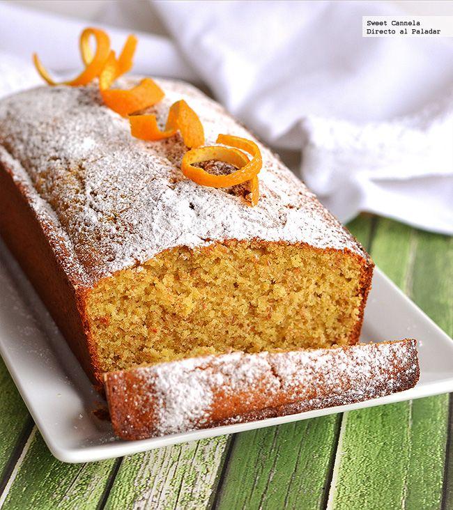 Receta de panqué de natas con un toque de naranja. Con fotos del paso a paso y consejos de degustación