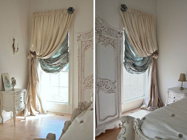 49 best window dressing sketchbook images on pinterest - Creative ways to hang curtains ...