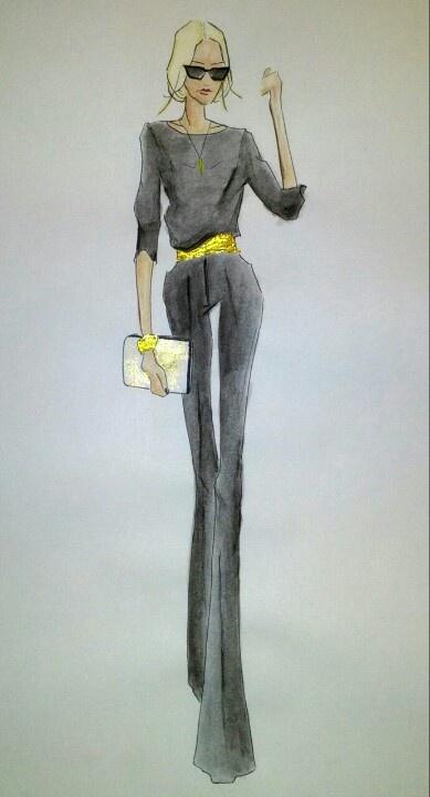 Fashion illustration by #DaniellaGallistl