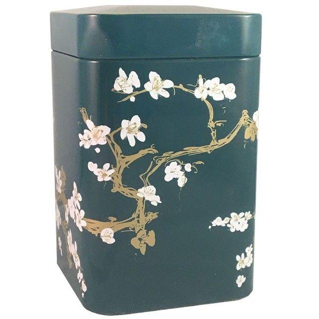 Petite boite métallique pour le thé Contenance 100 gr - Cerisier CBK