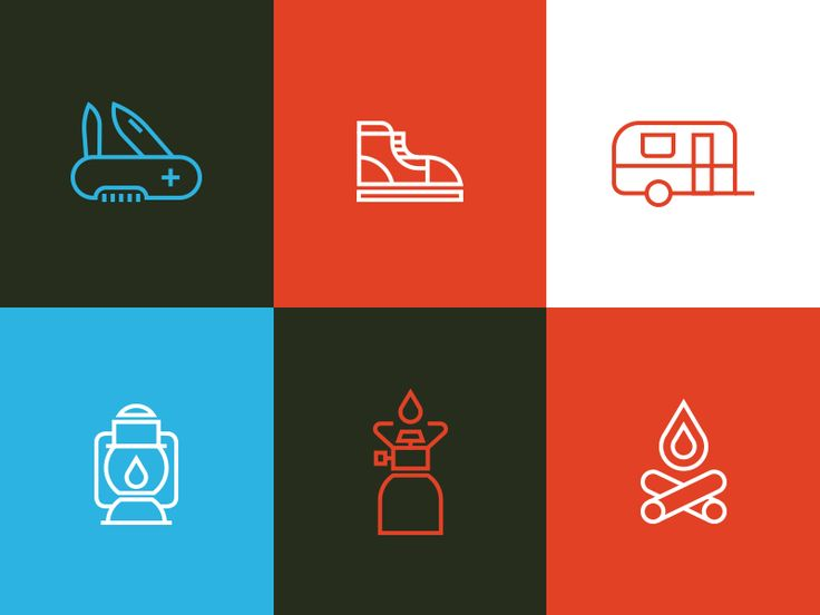 I'm working on a new set for my free line icons project. Theme of this set: The great outdoors.