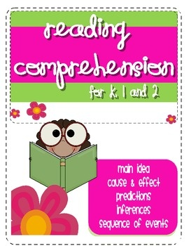 Reading Comprehension Practice***Common Core Standards***RI.K.2. With prompting