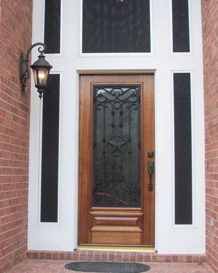 Texas Lone Star Wood And Wrought Iron Door. Front Door/ Entry Door