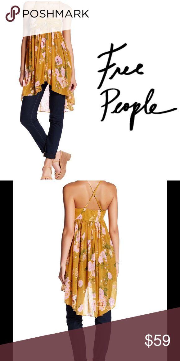 NWT FREE PEOPLE Yellow Mirage Tank Dress Beautiful tank dress, brand new. Free People Tops