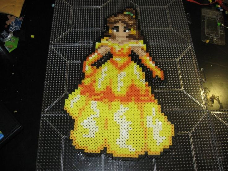 perler bead Disney Princess Belle Beauty and the Beast by rushtalion on deviantart