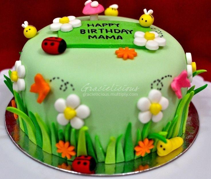 flower garden birthday cake google search - Garden Design Birthday Cake