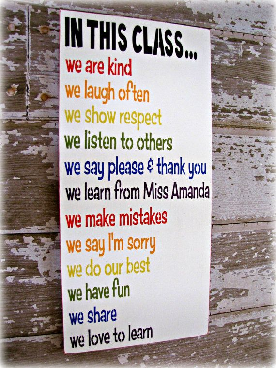 class rules shabby chic typography sign in this class classroom rules teacher