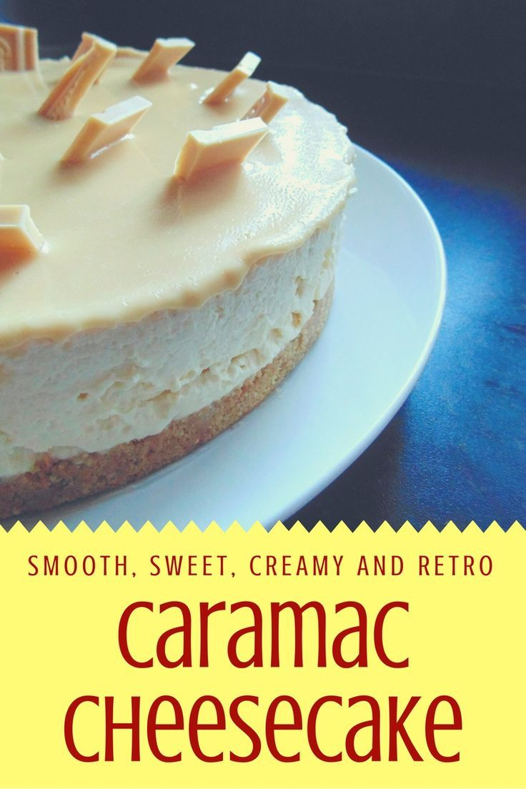 Caramac Cheesecake! My blog's most popular recipe! Creamy Caramac chocolate cheesecake with a buttery biscuit base.