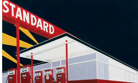 Standard Station, 1966  (detail), by Ed Ruscha. Photograph: Paul Ruscha/private collection