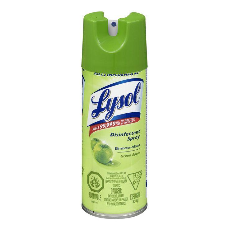 Lysol Disinfectant Spray, Green Apple, 350 g