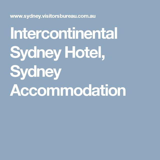 Intercontinental Sydney Hotel, Sydney Accommodation