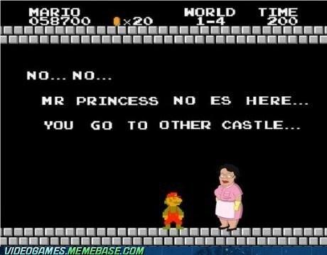video game memes - Mario No Le Gusta