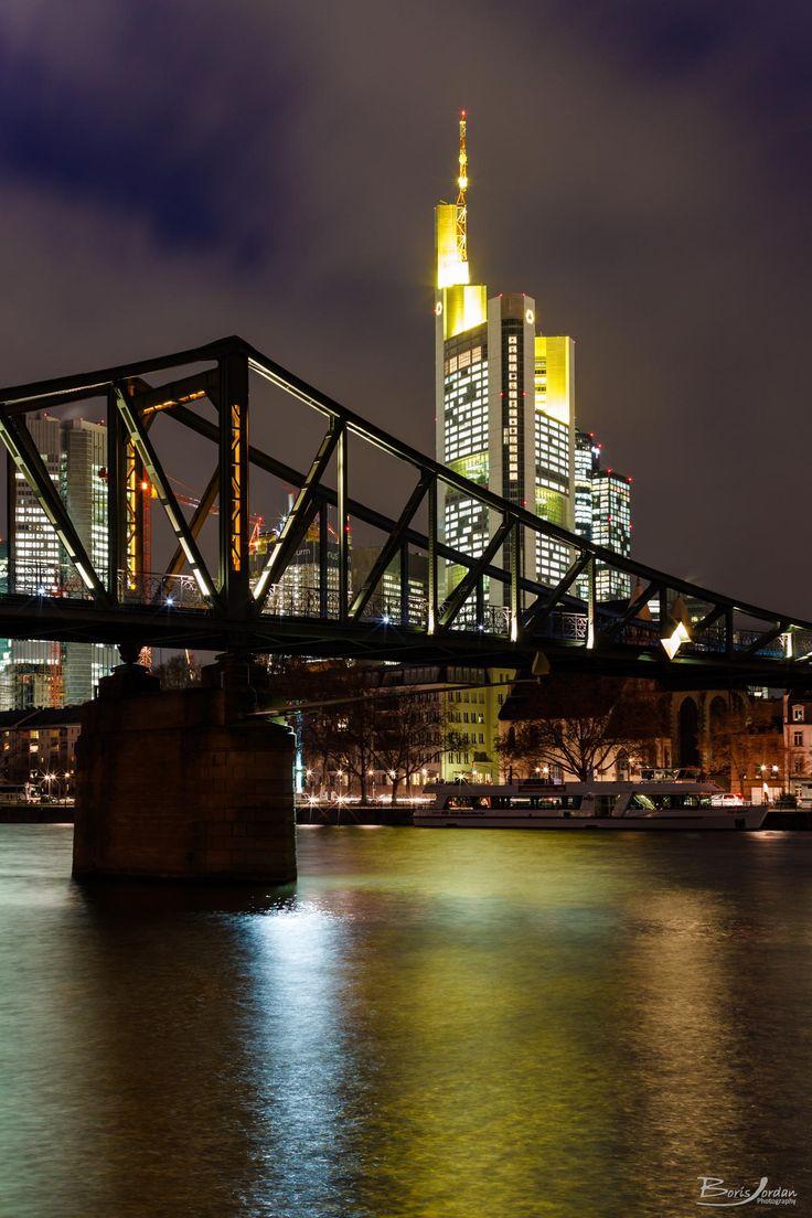 Eiserner Steg + Commerzbank, Frankfurt