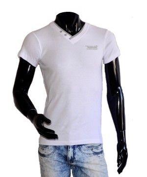 Белая мужская футболка Marco Masini