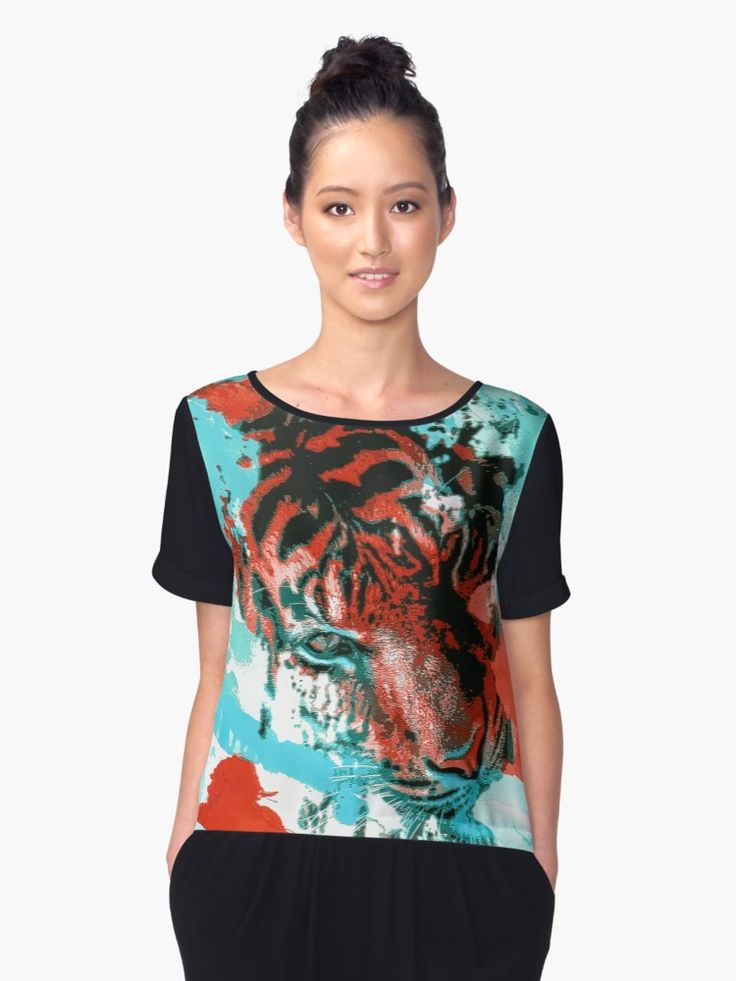 Add a Tiger to your closet and upgrade your wardrobe in color, pattern and beauty. • Also buy this artwork on apparel, phone cases, home decor, and more.