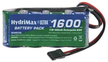 HydriMax NiMH 4C 4.8V 1600mAh 2/3A Flat Rx U Conn