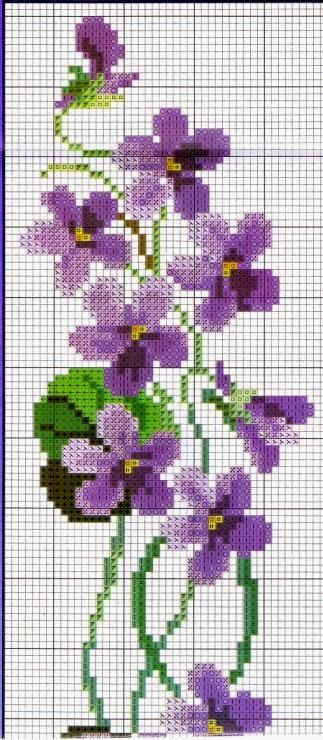 "Lovely heart things: Waiting for Spring ""Violets"" (collection schemes)"