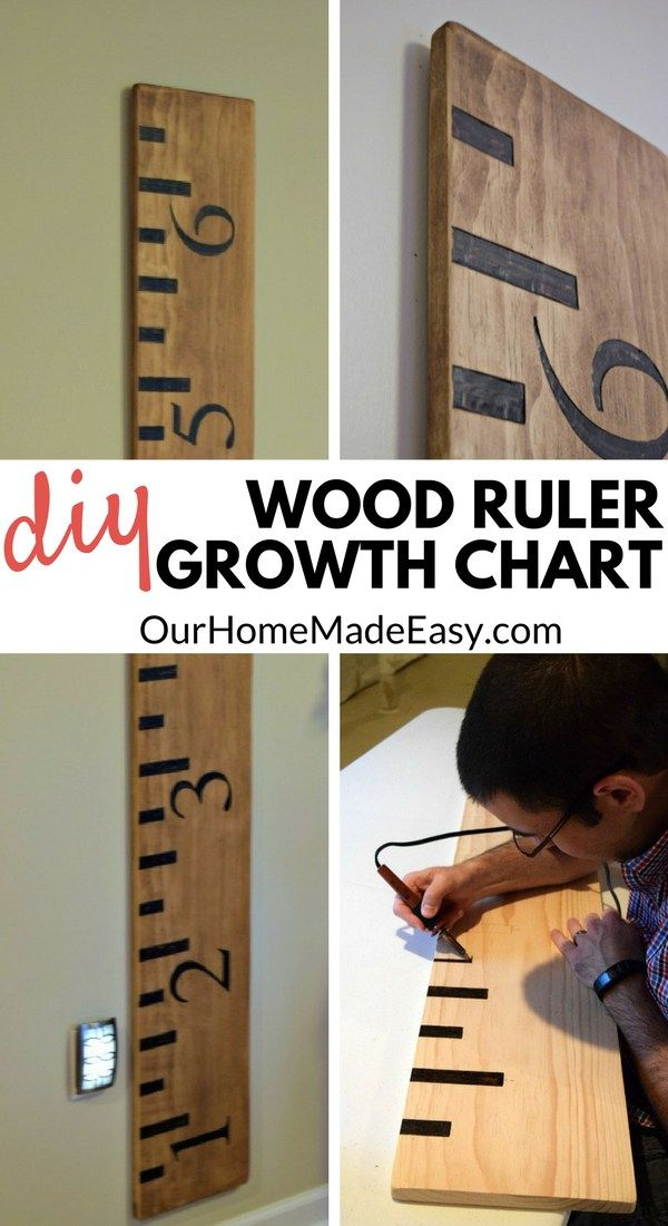 Make your own Wooden Ruler Growth Chart. This tutorial will step you through making your piece of functional art.