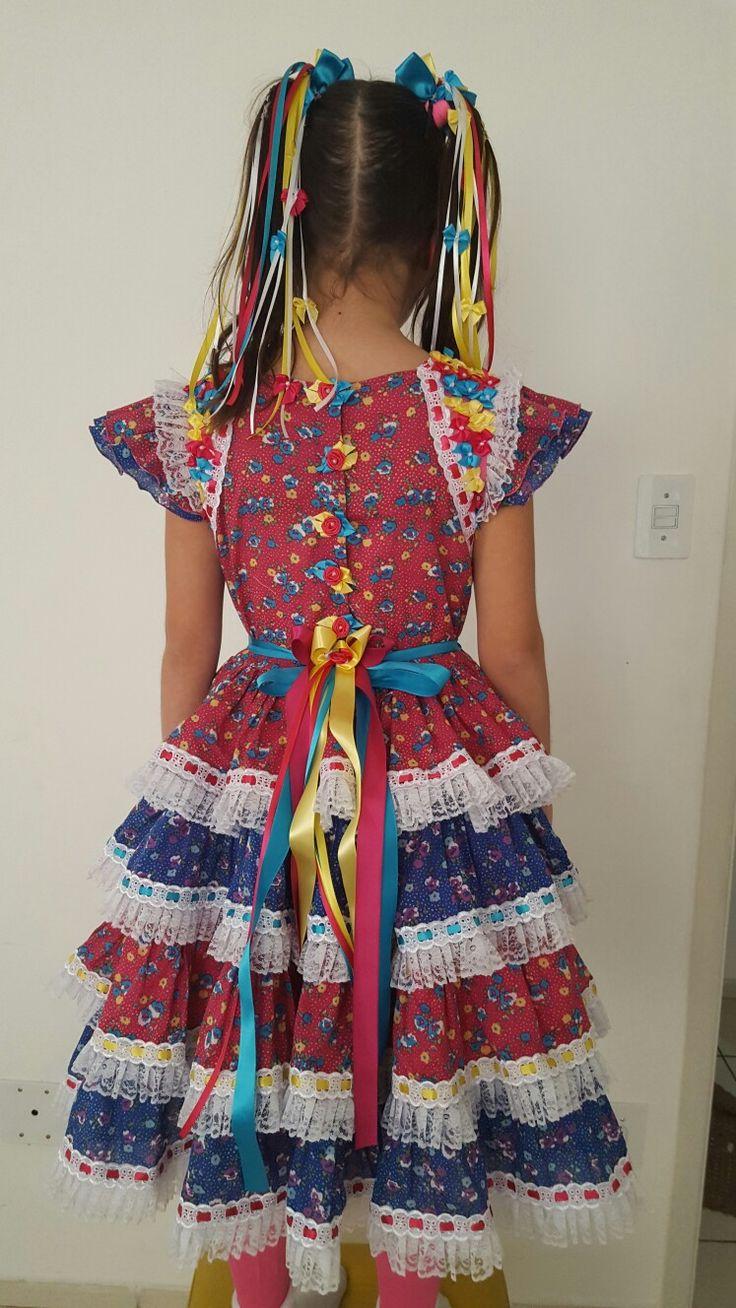 Vestido Caipira Festa junina SãoJoão