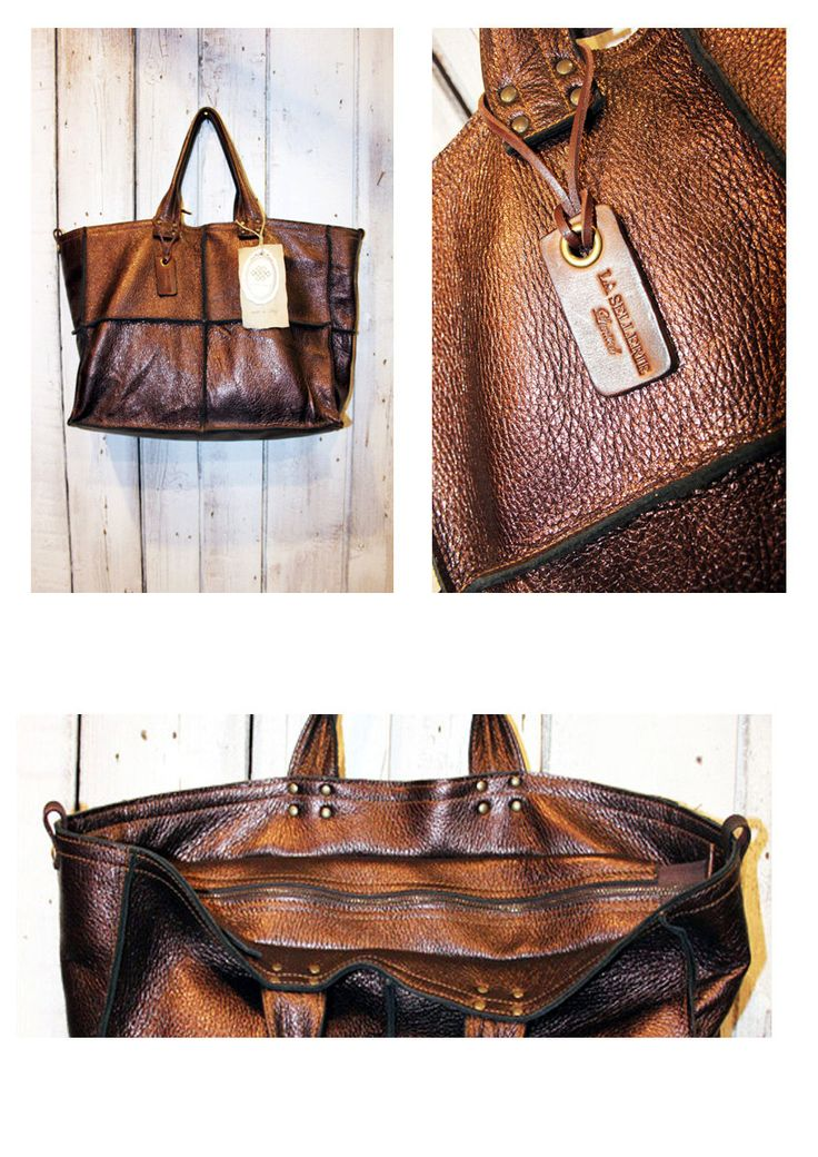 TOWN BAG Handmade Italian  Vintage Leather Tote di LaSellerieLimited su Etsy