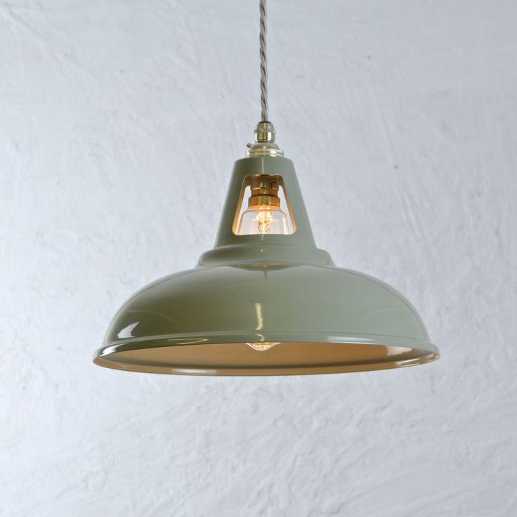 Coolicon Industrial Pendant Light - Olive Grey - Artifact Lighting