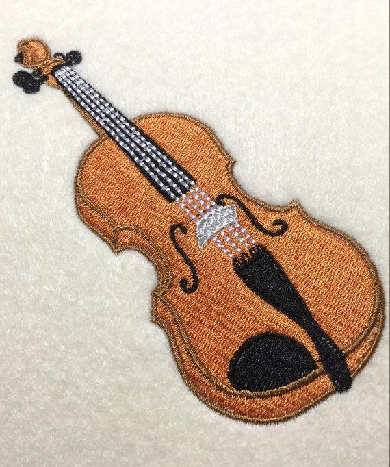 Diseño de bordado de instrumento de cuerda de por Pixels2Threads