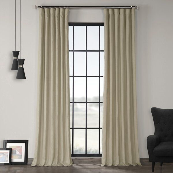 Ennis Room Darkening Rod Pocket Single Curtain Panel Half Price