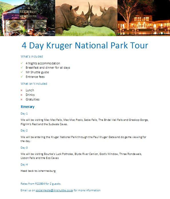 4 day Kruger NAtional Park Tour