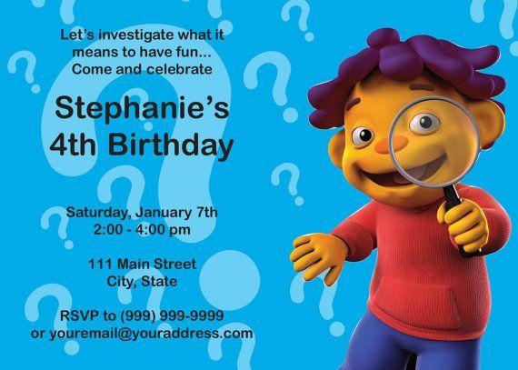 sid the science kid invitation ideas   Sid the Science Kid Invitation by SusanCDesigns on Etsy, $8.00