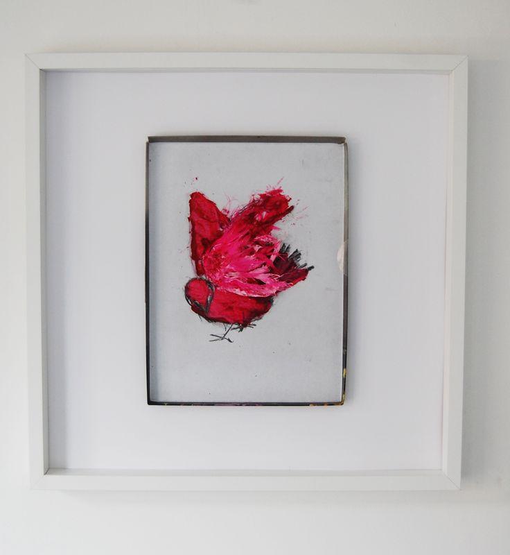 made by Willemien Mensing Pink Bird