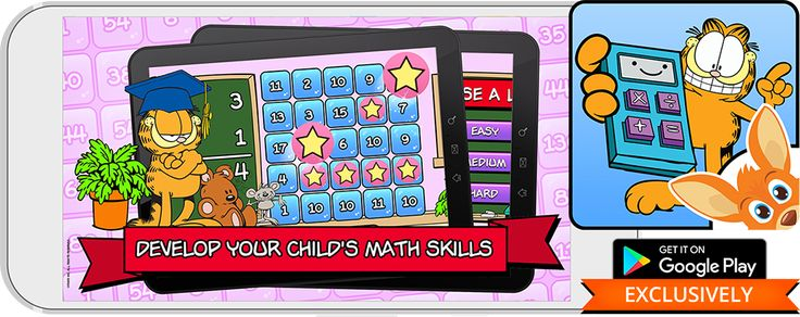 Develop Your Child's Math Skills with Garfield on Rooplay!