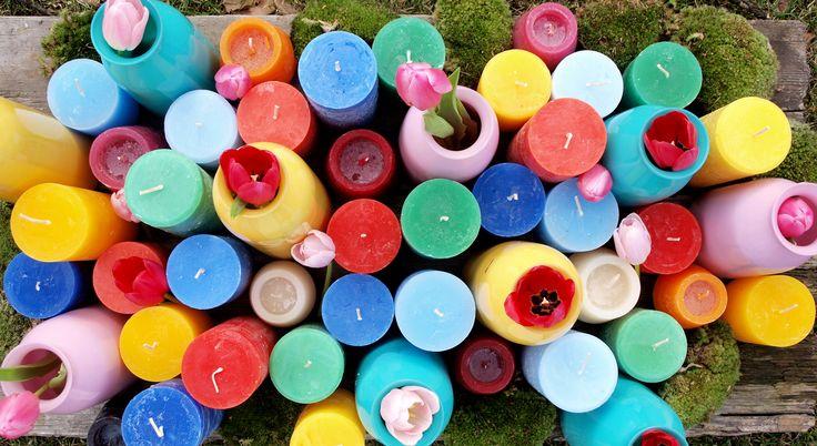Kolorowo nam! Kolorowe świece i wazony do wielkanocnych aranżacji znajdziecie na naszej stronie www.sklep.bovem.eu