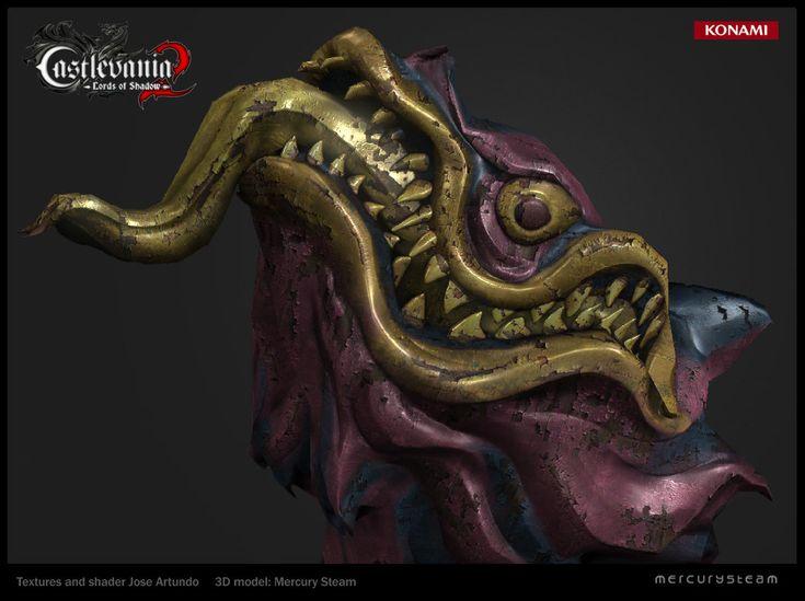 Wood dragon head, Jose Artundo on ArtStation at https://www.artstation.com/artwork/wood-dragon-head
