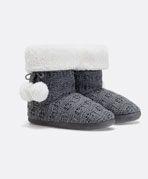 Loose knit woollen slipper boots - OYSHO